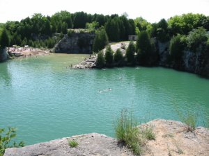 Swimming (no diving!) in the Elora Quarry