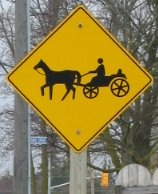 Sign with horse adn buggy